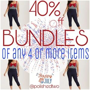 BLOWOUT SALE: 40% off BUNDLES of 4+, ends July 4th